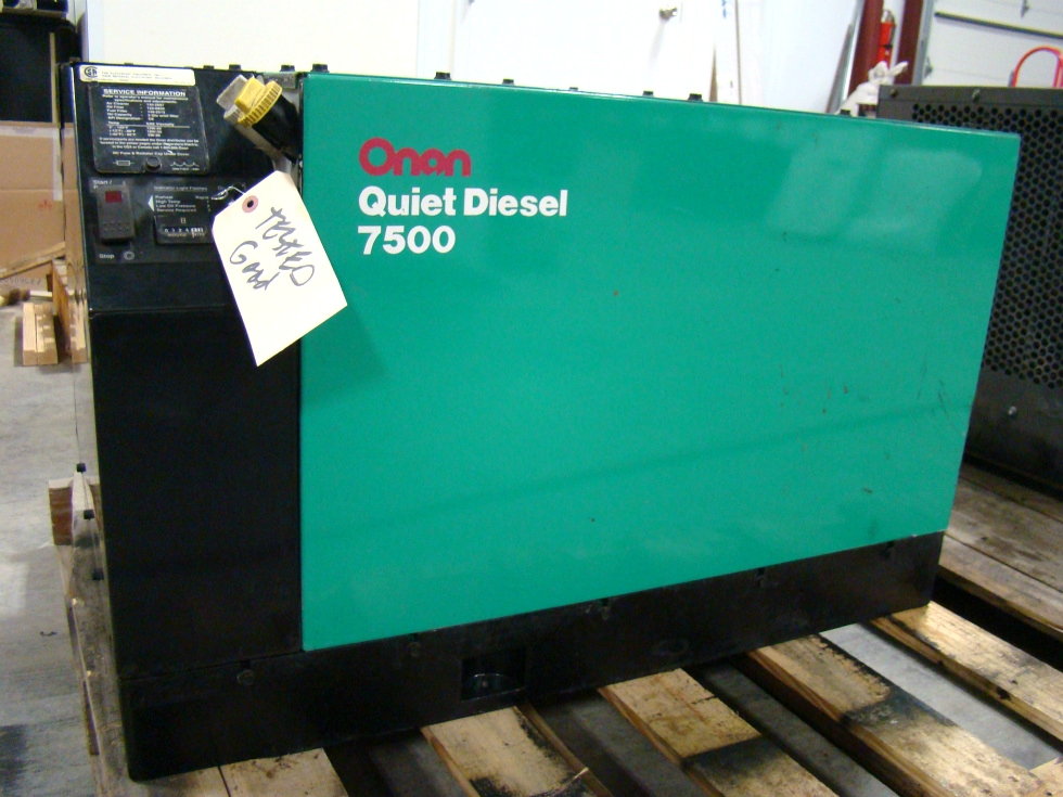 ONAN GENERATORS USED ( LIKE NEW ) 7500 QUIET DIESEL FOR SALE VISONE RV