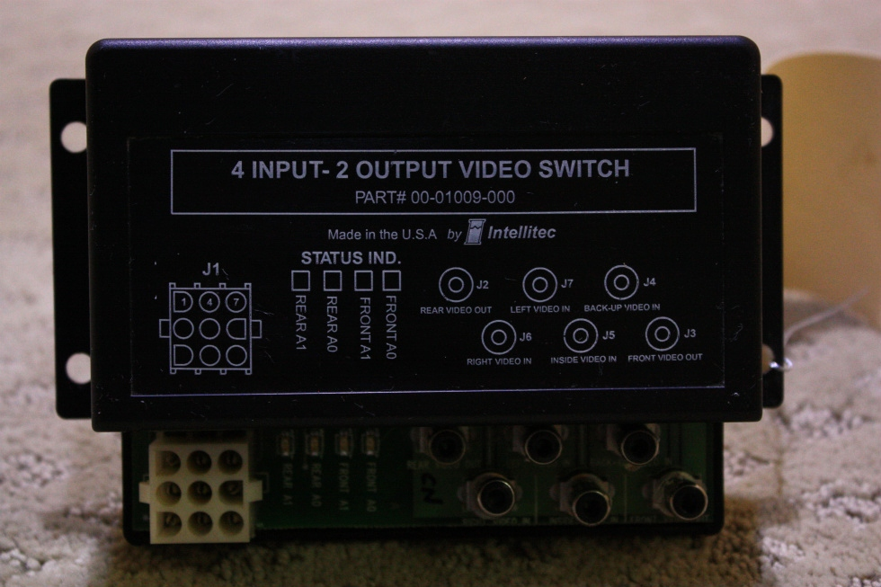 USED 4 INPUT - 2 OUTPUT VIDEO SWITCH 00-01009-000 FOR SALE  **OUT OF STOCK**