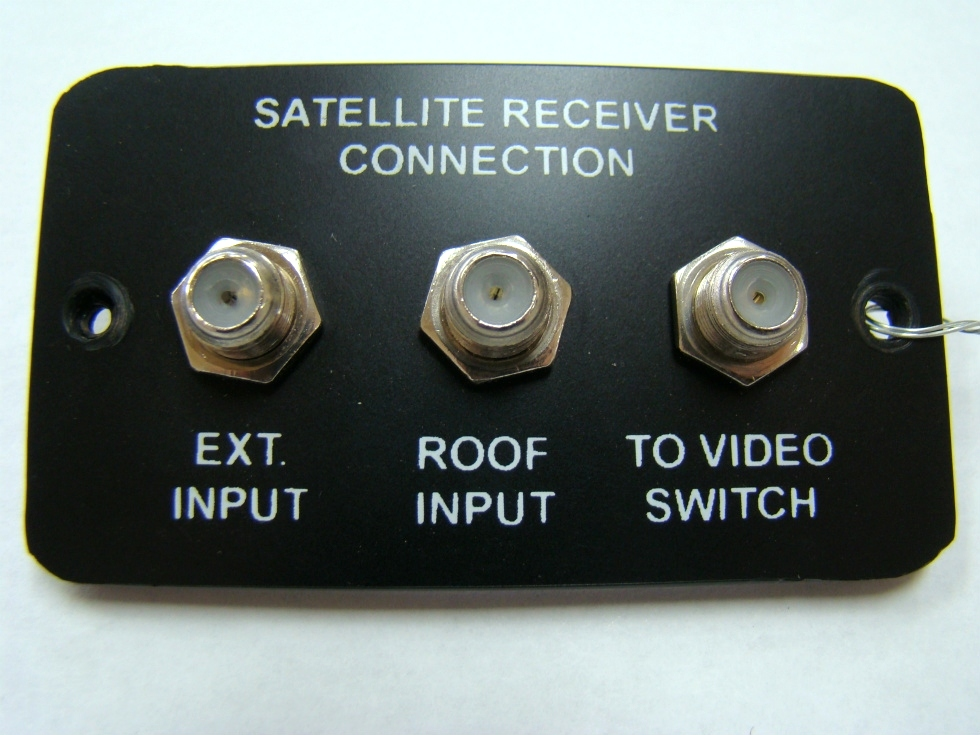 USED RV/MOTORHOME SATELLITE RECEIVER CONNECTORS PANEL FOR SALE