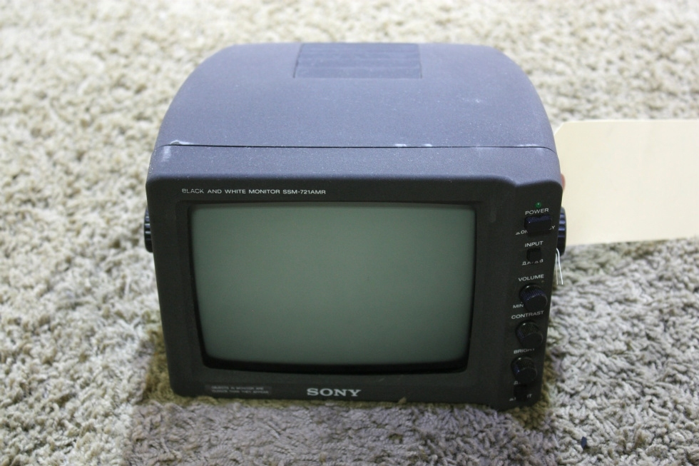 USED RV SSM-721AMR SONY BLACK/WHITE MONITOR FOR SALE