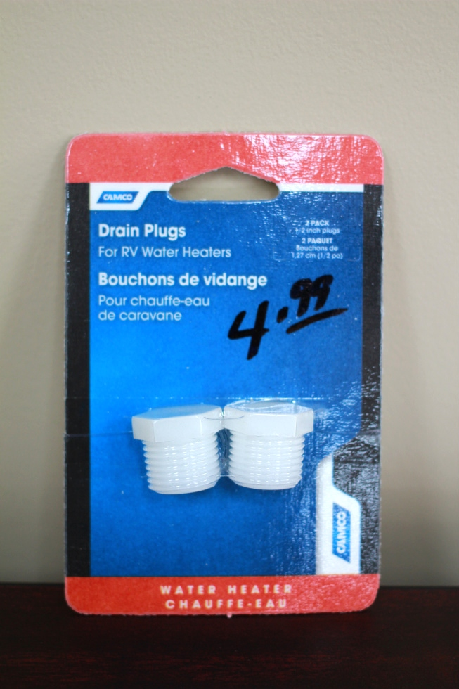 NEW RV/MOTORHOME CAMCO DRAIN PLUGS - 2 PACK 1/2 PN: 11630