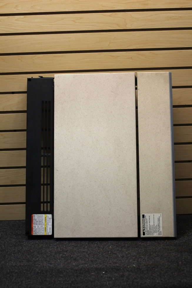USED RV/MOTORHOME COOKTOP COVER *BEIGE & BLUE* FROM 2003 HOLIDAY RAMBLER NEPTUNE