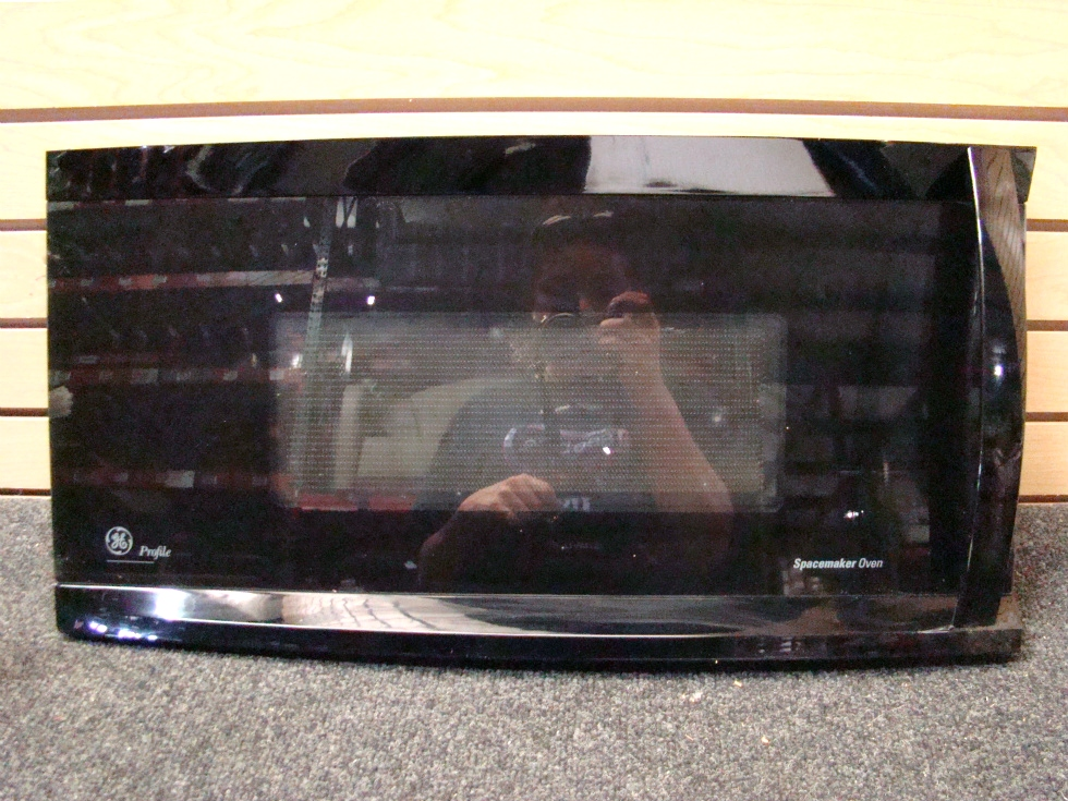 USED GE MICROWAVE  PROFILE SPACEMAKER PROFILE DOOR WITH HANDLE  SIZE: 24 1/2 L