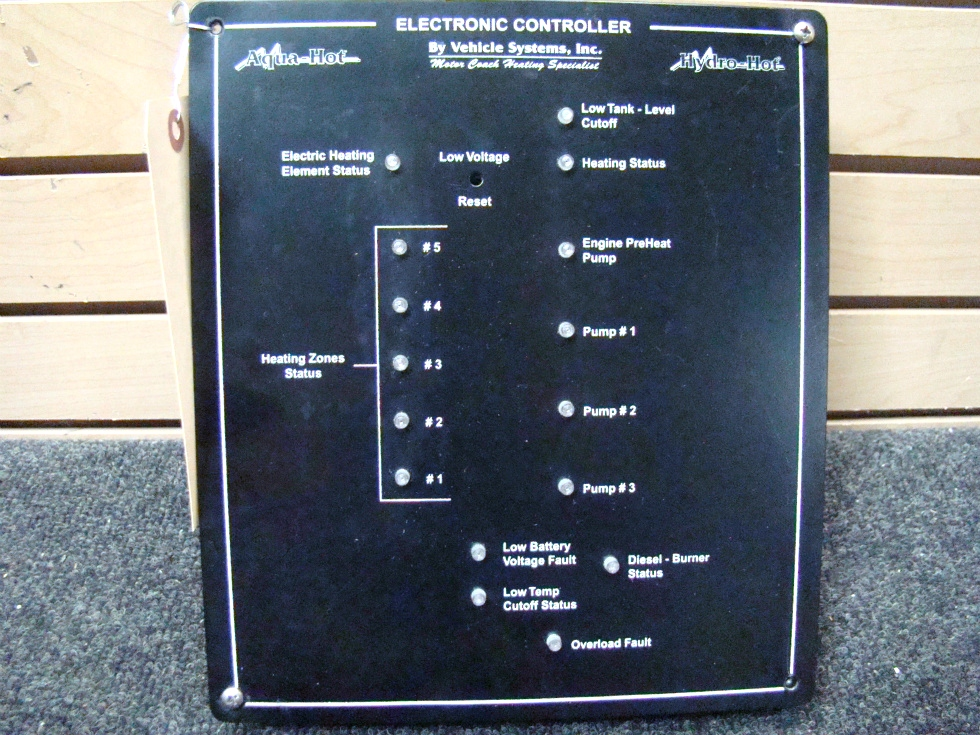 USED RV/MOTORHOME AQUA HOT ELECTRONIC CONTROL PANEL BY.VEHICLE SYSTEMS FOR SALE *OUT OF STOCK*