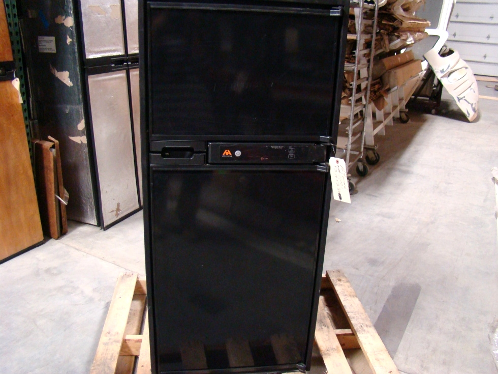 USED RV/MOTORHOME BLACK ATWOOD HELIUM REFRIGERATOR HE-0601 FOR SALE