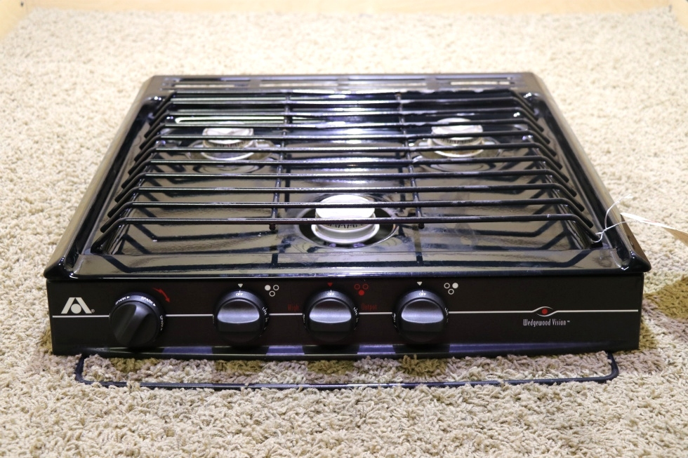 USED C-V32BPN ATWOOD WEDGEWOOD VISION 3 BURNER COOK TOP MOTORHOME APPLIANCES FOR SALE