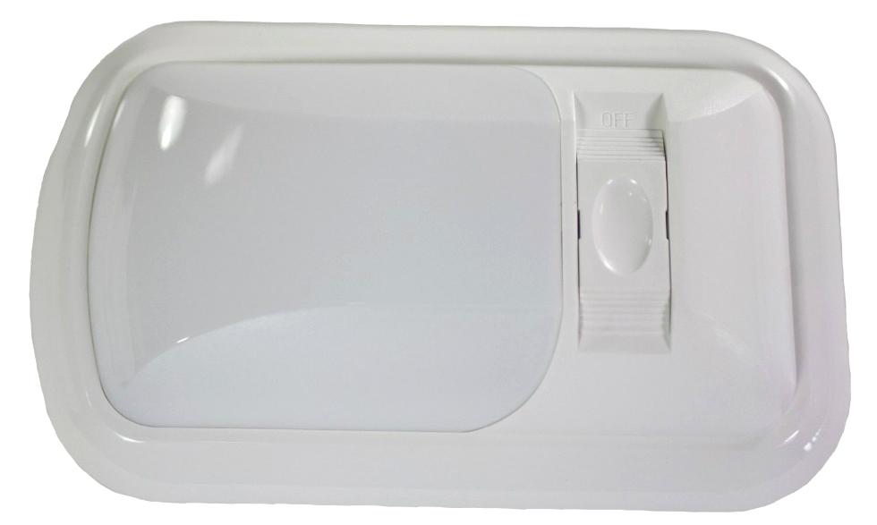 NEW ARCON 20713 SOFT WHITE 12V  EU-LITE SINGLE RV LED LIGHT WITH WHITE LENS
