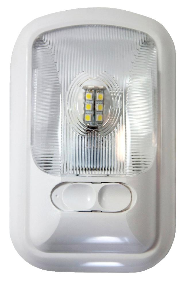 NEW ARCON 20711 SOFT WHITE 12V EU-LITE SINGLE LED RV LIGHT WITH OPTIC LENS