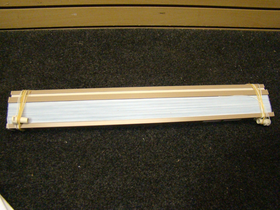 USED RV OR HOME FLEETWOOD LIGHT BEIGE BLINDS 24