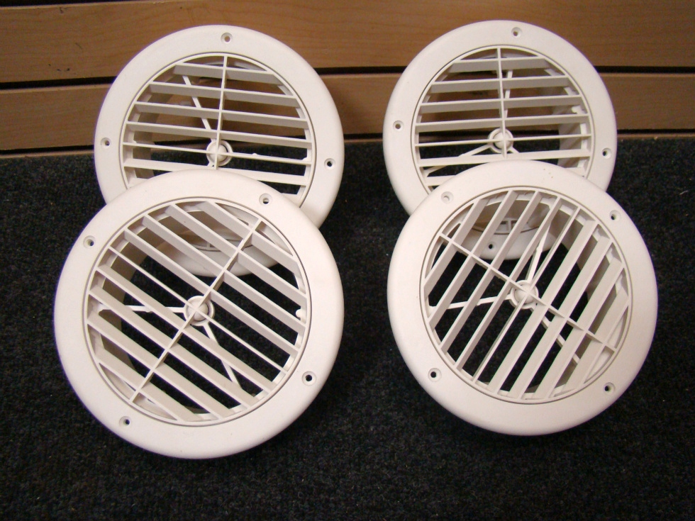 NEW RV OR HOME 4 PIECE WHITE CEILING VENT COVERS