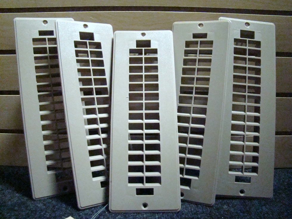 USED RV/MOTORHOME SET OF 5 TAN FLOOR VENT COVERS (PLASTIC) FOR SALE