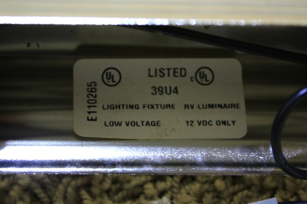 USED RV VANITY LIGHT BAR - STAINLESS - FOR SALE
