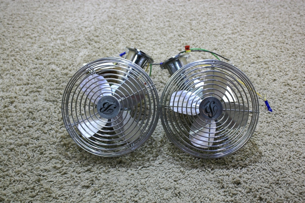 USED SET OF 2 BOMAR MOTORHOME DASH FANS CF-712 FOR SALE