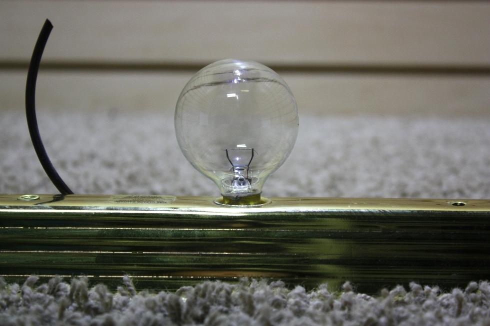 Vanity Light Bar Parts : RV Interiors USED RV GOLD 3 BULB VANITY LIGHT BAR FOR SALE Interior Lights GOLD/BRASS LIGHT ...