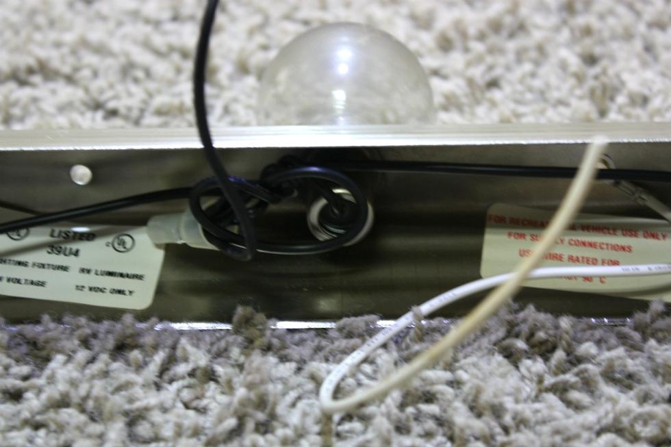 Vanity Light Bar Parts : RV Interiors USED 3 BULB VANITY LIGHT BAR RV LIGHT FIXTURES FOR SALE Interior Lights BRUSHED ...