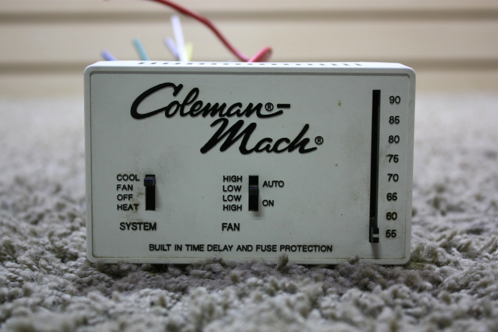 used motorhome coleman-mach 7330d335 thermostat for sale ... rv thermostat wiring color code #15