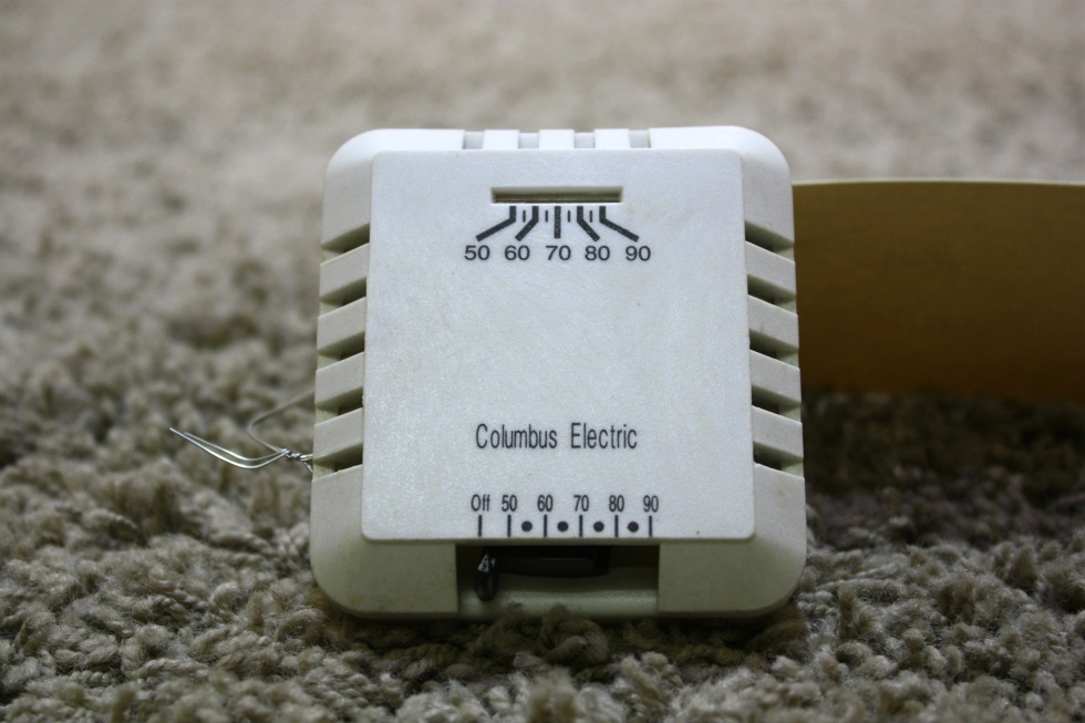 USED RK130EAA ELECTRIC COLUMBUS WALL THERMOSTAT MOTORHOME PARTS FOR SALE