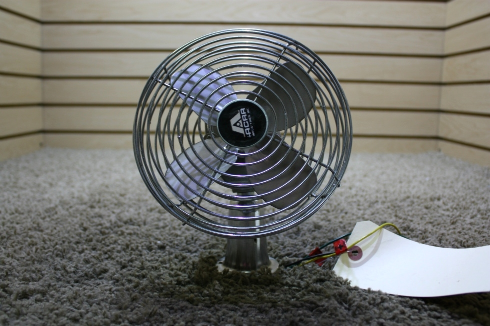 USED MOTORHOME ACAR CHROME DASH FAN FOR SALE