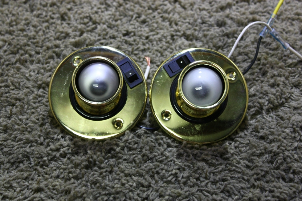 USED SET OF 2 INTERIOR SWIVEL READING LIGHT FIXTURES RV PARTS FOR SALE