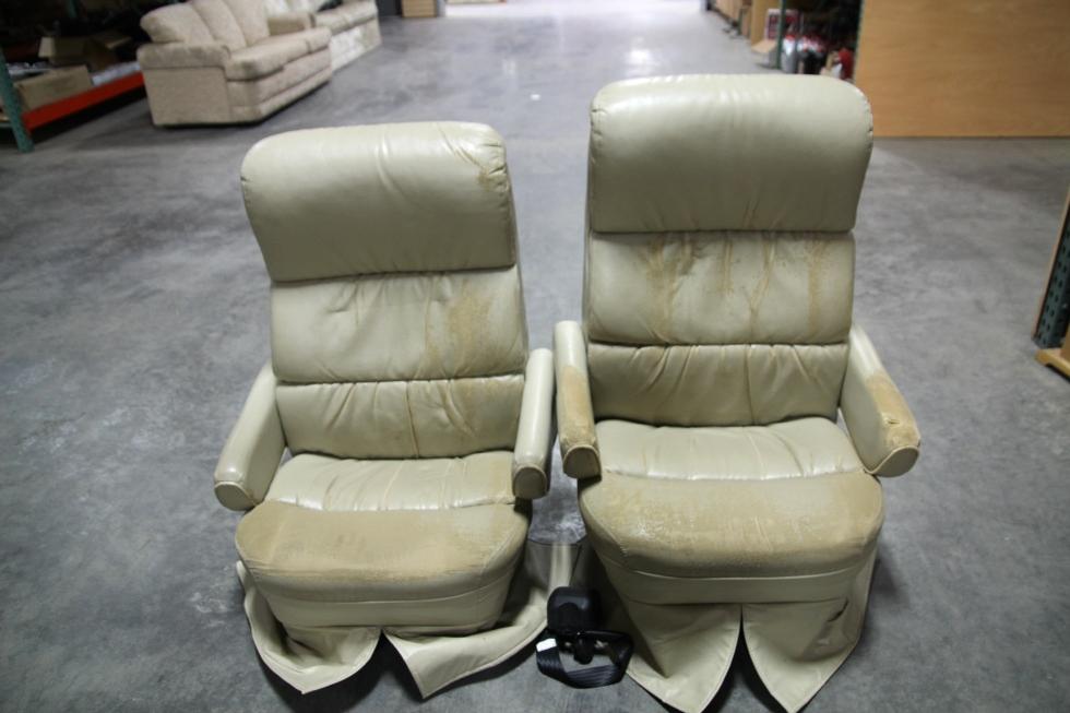 RV Furniture RECOVERABLE RV CAPTAIN CHAIR SET FLEXSTEEL