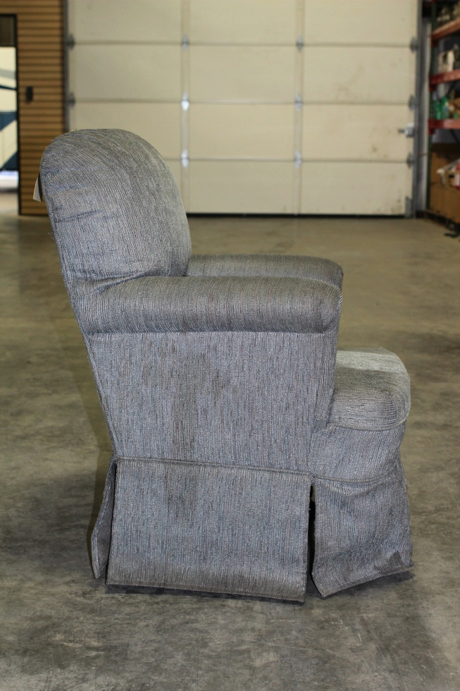 Rv Furniture Used Rv Motorhome Blue Cloth Swivel Rocker Chair Recoverable Rv Swivel Recliners