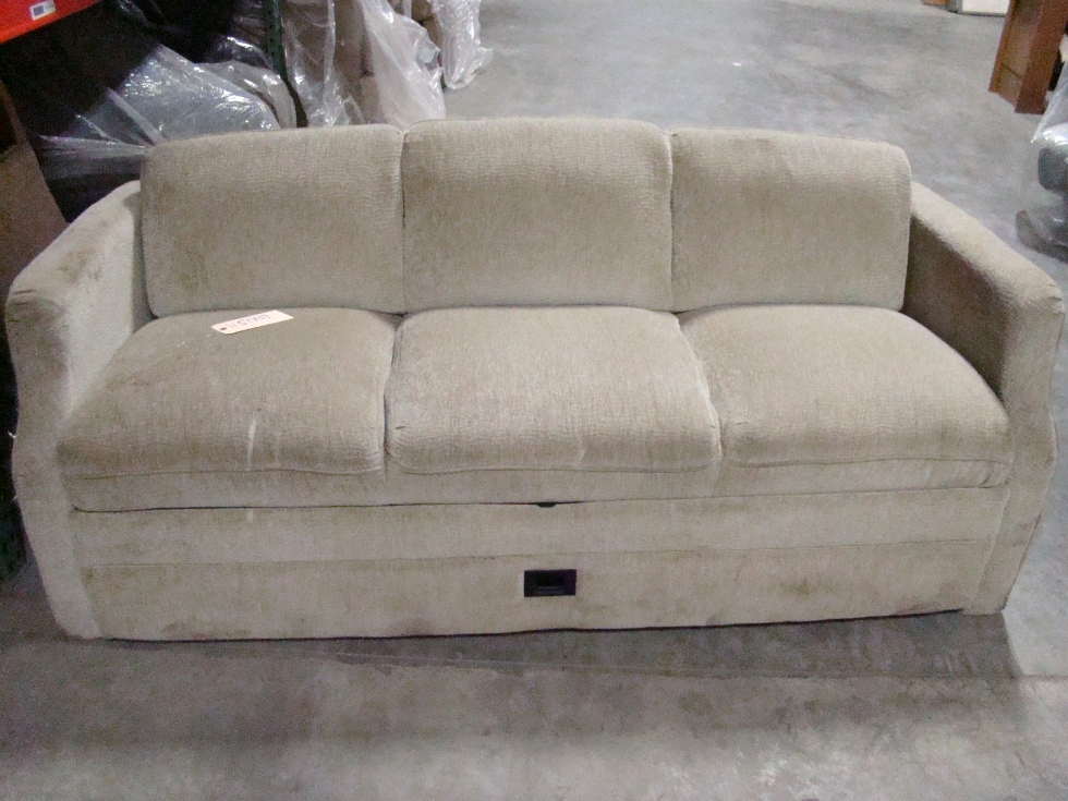 Rv furniture used rv motorhome furniture tan cloth jack for Tan couches for sale