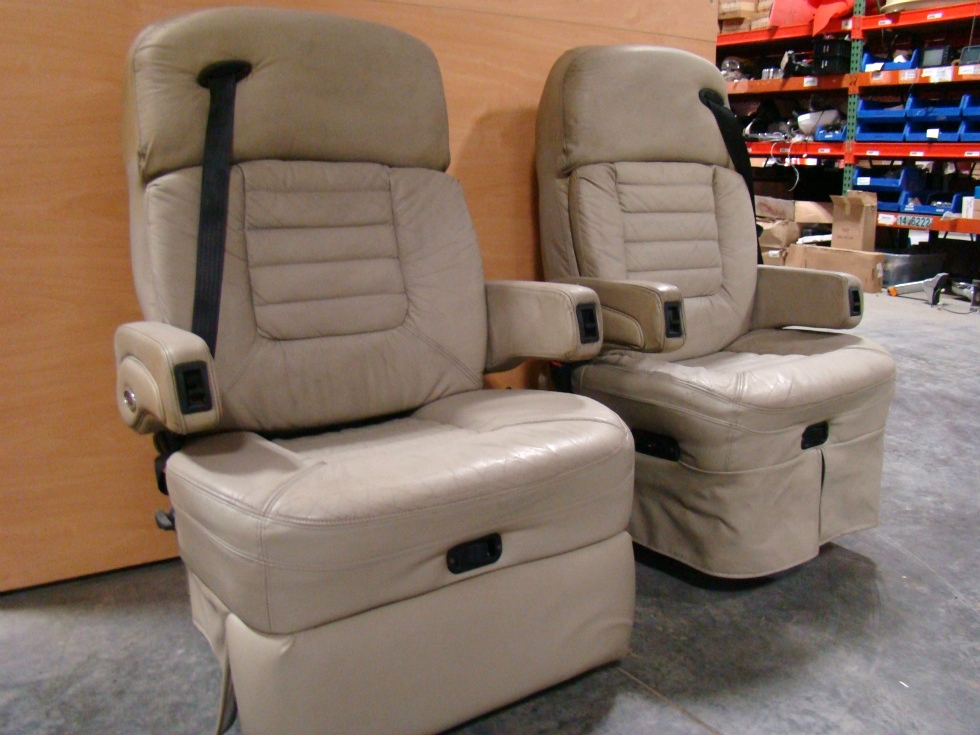 Rv Furniture Used Rv Motorhome Furniture Tan Fleexsteel Captains Chairs Rv Captains Chairs Rv