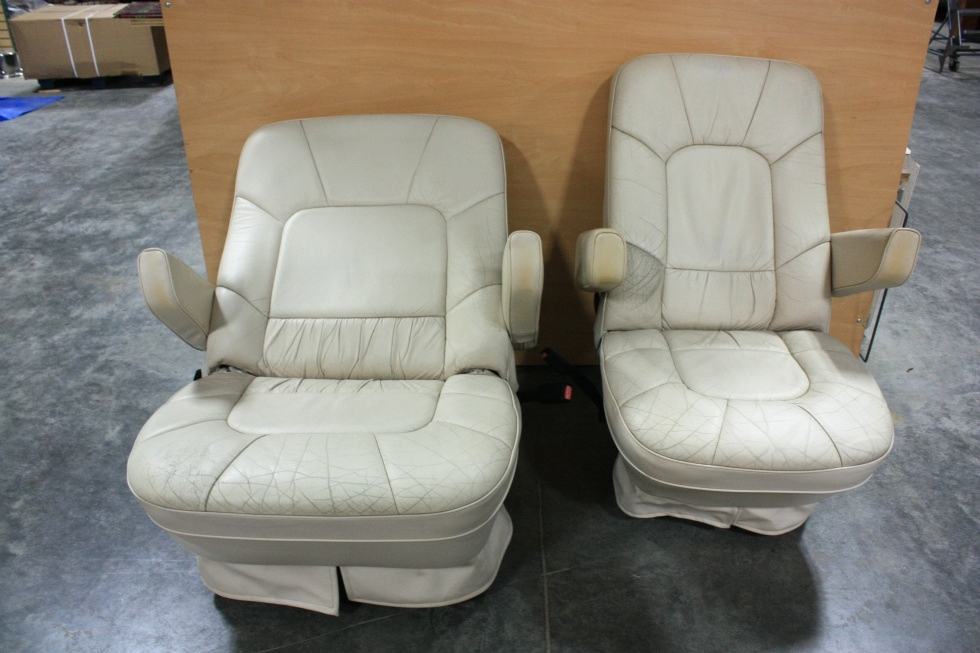 rv furniture used rv leather look captain chairs for sale. Black Bedroom Furniture Sets. Home Design Ideas