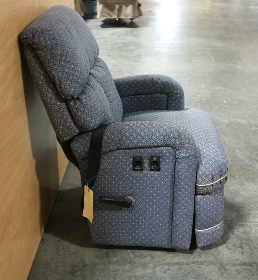 Rv Furniture Used Motorhome Blue Cloth Recliner For Sale