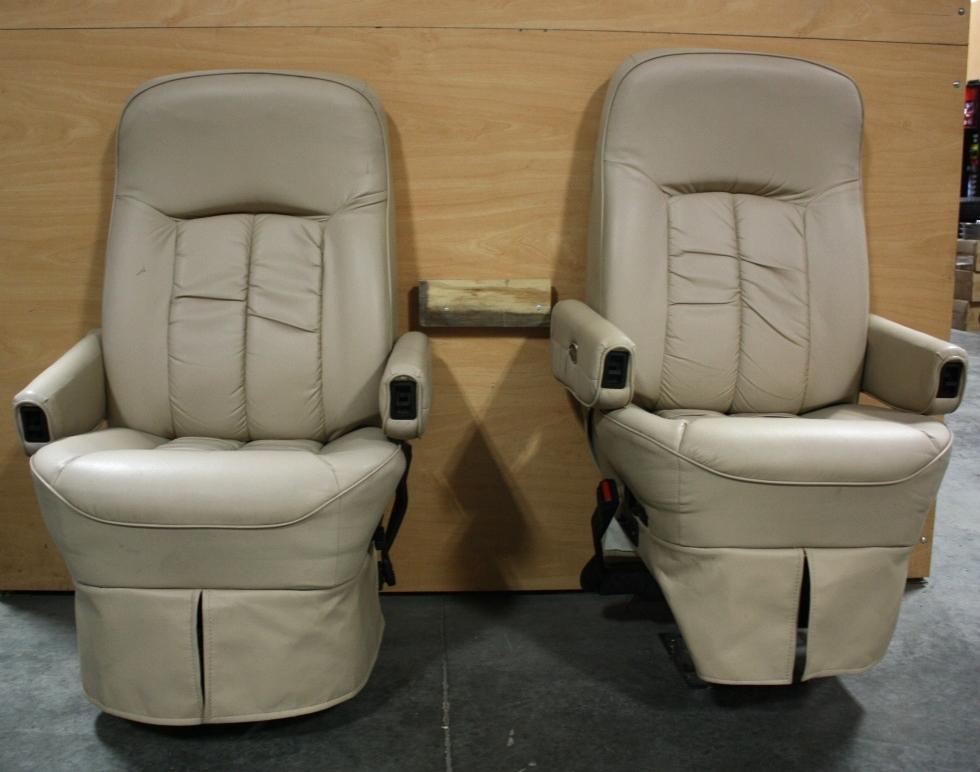 RV Furniture USED FLEXSTEEL RV SET OF 2 LEATHER LOOK
