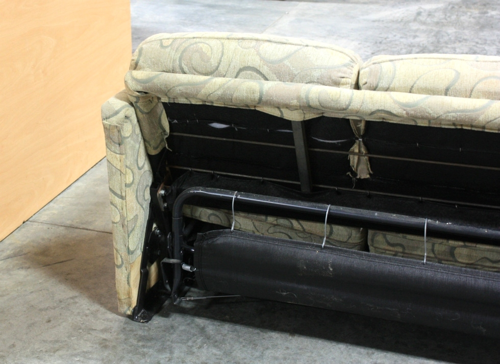 Rv furniture used rv swirl pattern cloth pull out sleeper for Used couches for sale