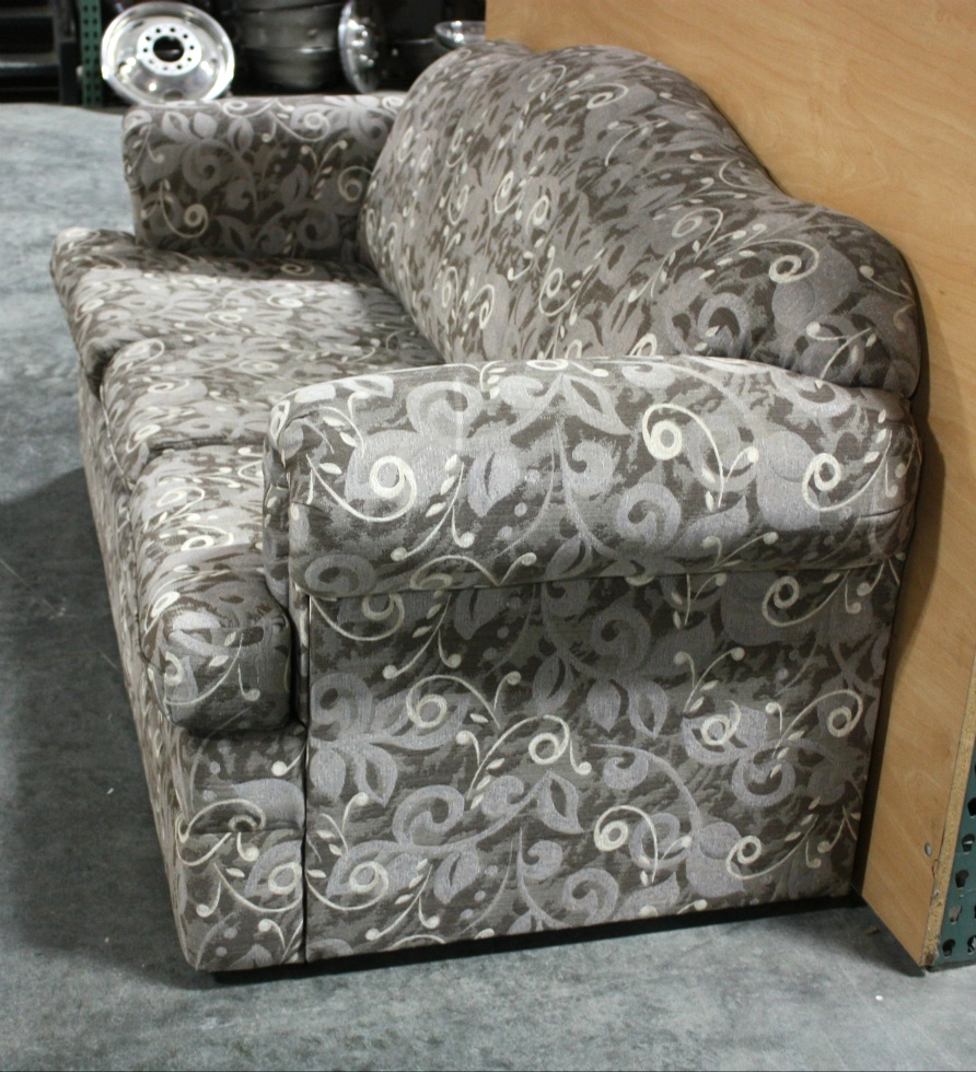 Rv furniture used charcoal gray leaf pattern cloth for Gray sofas for sale