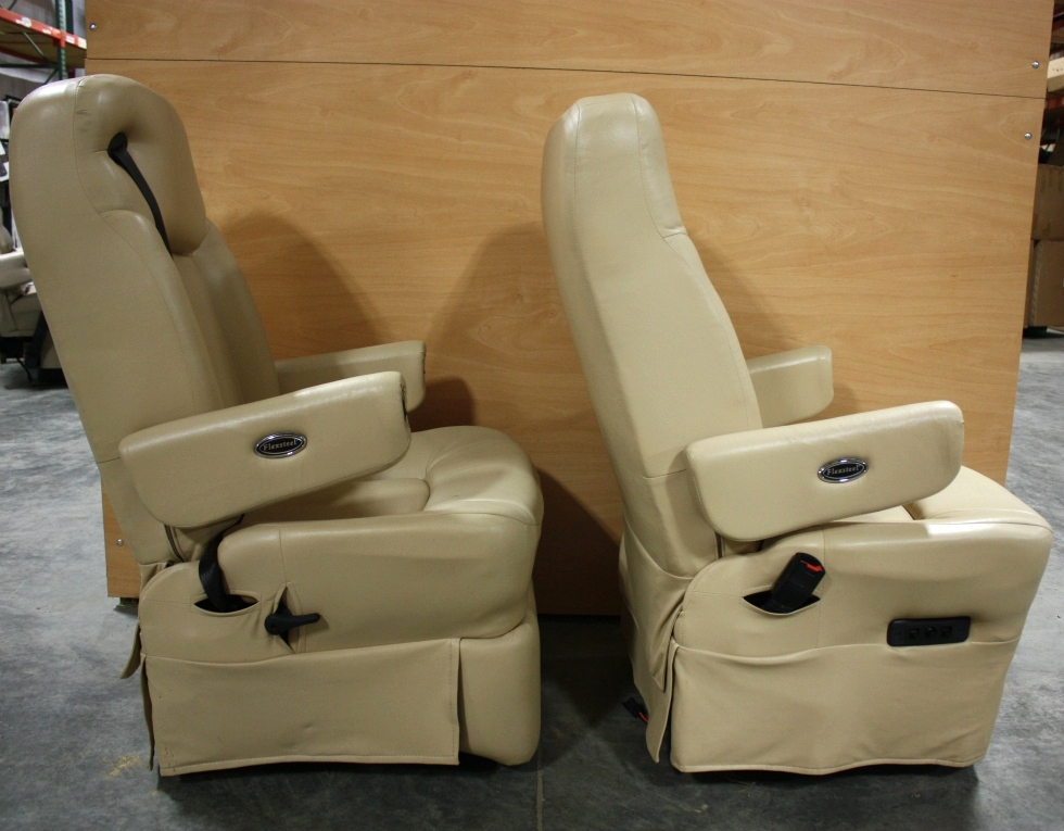 RV Furniture USED LEATHER FLEXSTEEL CAPTAIN CHAIR SET FOR
