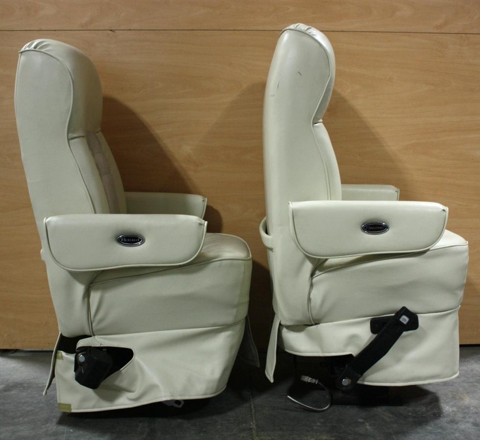 Rv Furniture Used Set Of 2 Flexsteel Leather Cloth