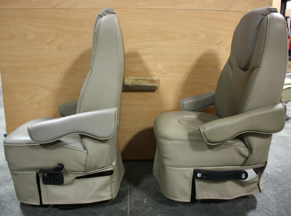 RV Furniture USED RV SET OF 2 TWO TONE CAPTAIN CHAIRS FOR