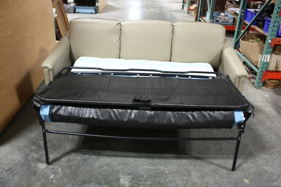 Rv furniture used rv flexsteel ultra leather sleeper sofa for Used couches for sale