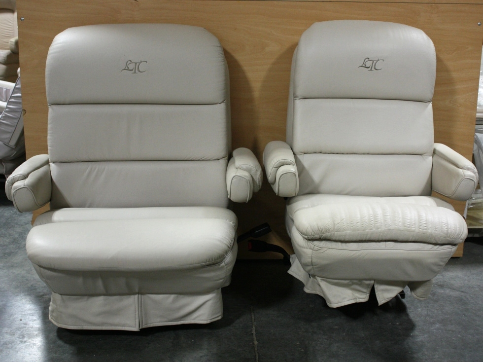 RV Furniture USED RV ULTRA LEATHER LTC CAPTAIN CHAIR SET
