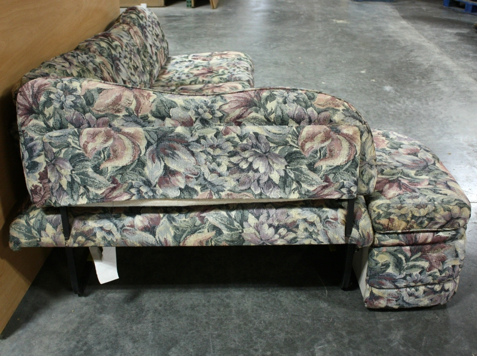 USED RV CLOTH FLOWER PATTERN J-LOUNGE FOR SALE